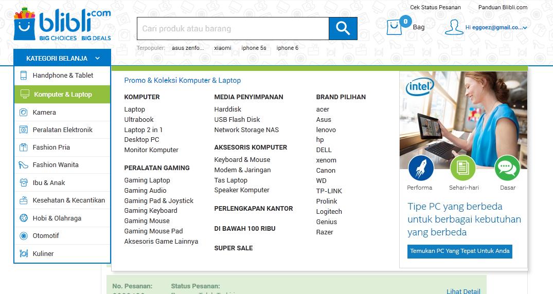 kategori kommputer dan laptop
