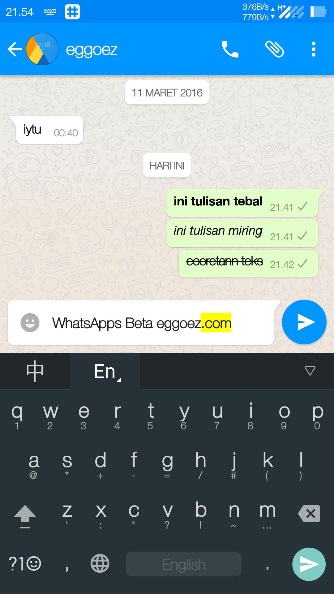 new whatsapp style bold italic strick text